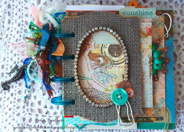 Book Club Sizzix Collection Chapter Two: Beach Disc Junk Journal by Tonya Trantham