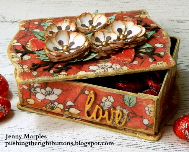 Eileen Hull Die Favorites Projects and Tutorials: Floral Valentine's Day Trinket Box Treat Holder by Jenny Marples