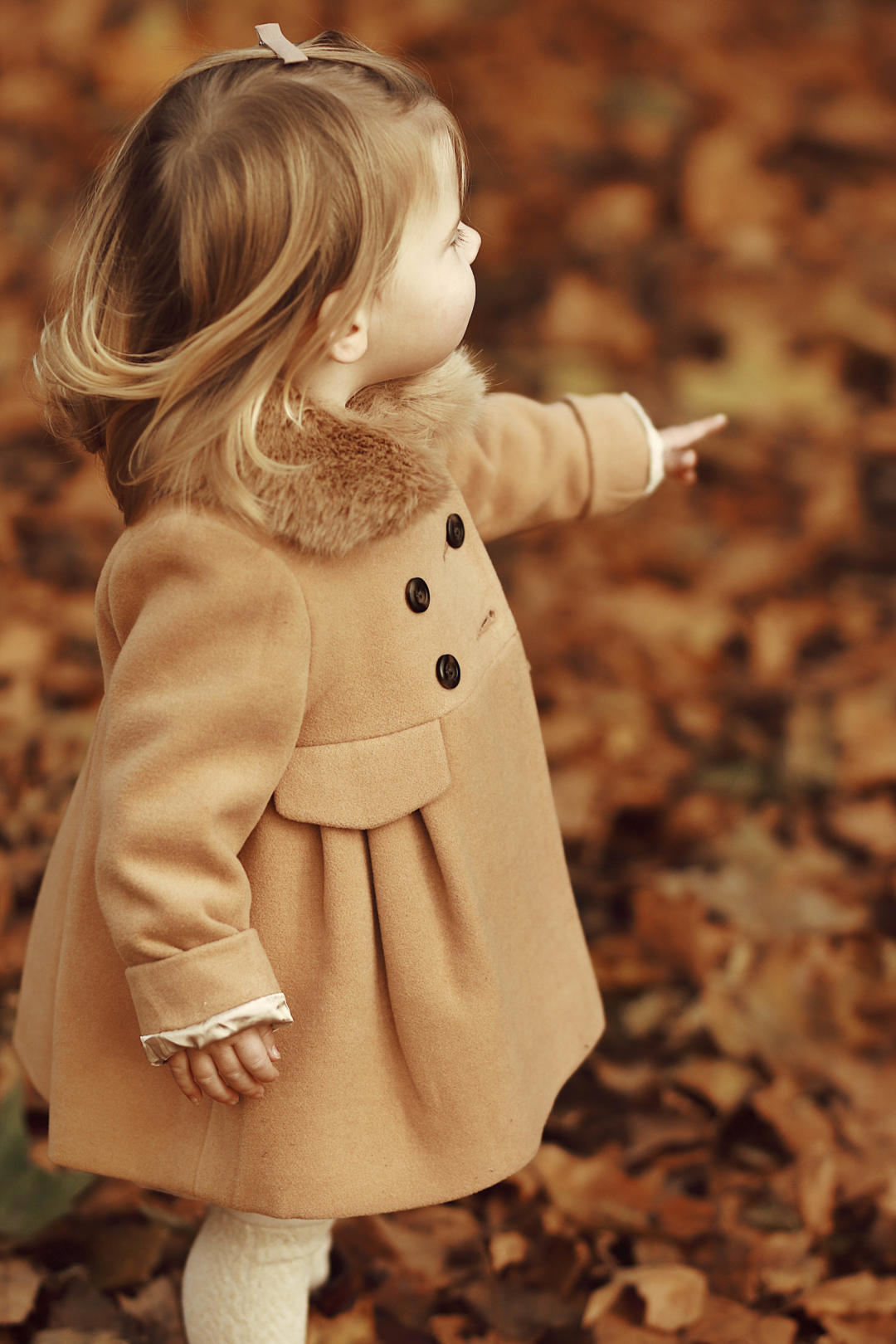 Camel Coat with Faux Fur Collar for Kids Monsoon Fashion