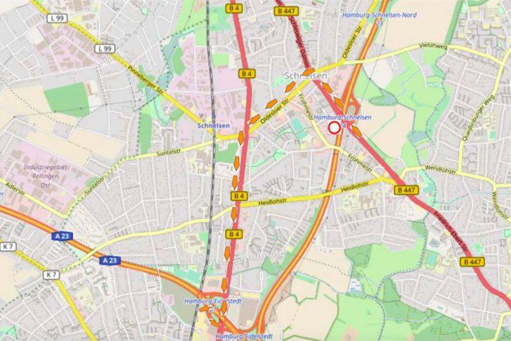 A7, Vollsperrung, Autobahn, Umleitungen, Sperrung, Verkehr