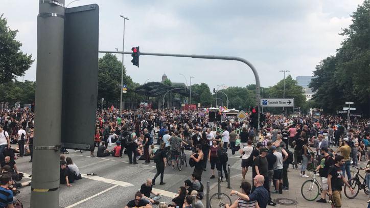 Reeperbahn, St. Pauli, G20, Demonstration