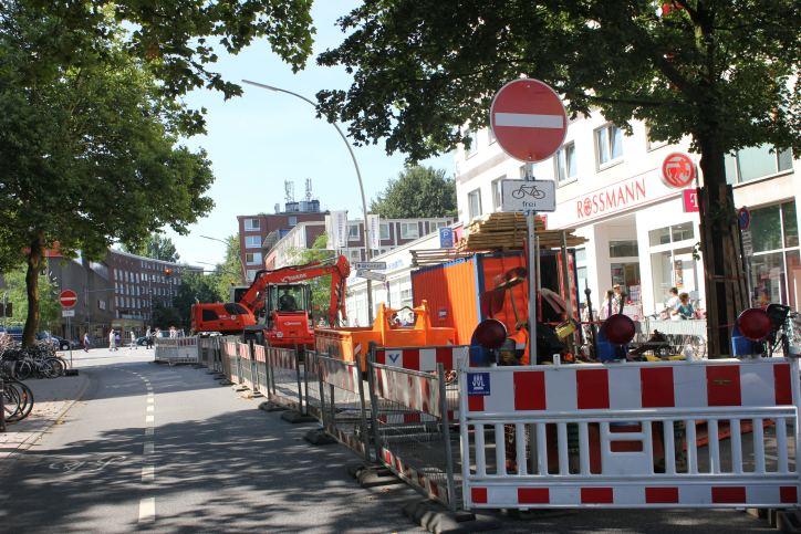 Heußweg in Richtung Osterstraße gesperrt