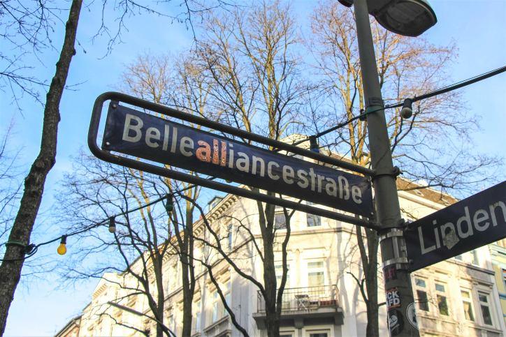 Straßennamen in Eimsbüttel: Bellealliancestraße