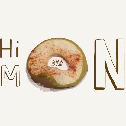 Apfelringe am Montag