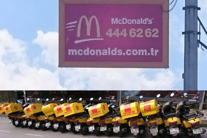 Mc Donalds Bringdienst