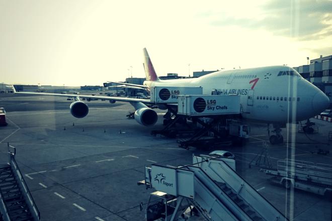 Flugzeug nach Seoul