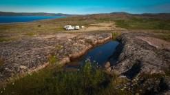 Der nördlichste Punkt unserer Reise: karge Schönheit an der Küste der Barentssee bei Teriberka.