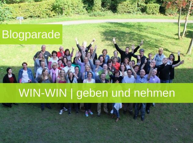 Blogparade: WIN-WIN   geben und nehmen   Win-Win Situation