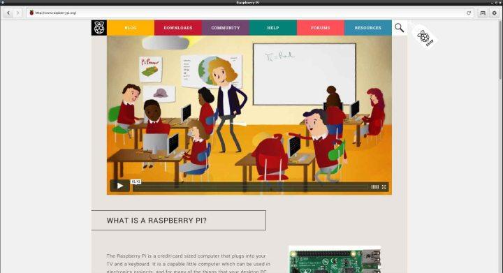 Screenshot Raspberry Pi