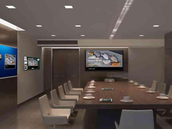 Fernseher an der Wand montiert