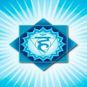 Chakra 5, das Kehlchakra oder Halschakra, für Kommunikation und Expression