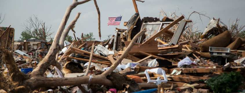 tornado damages homes and houses
