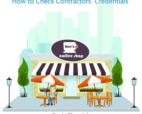 how to check contractors' credentials