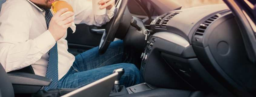 man distracted driving