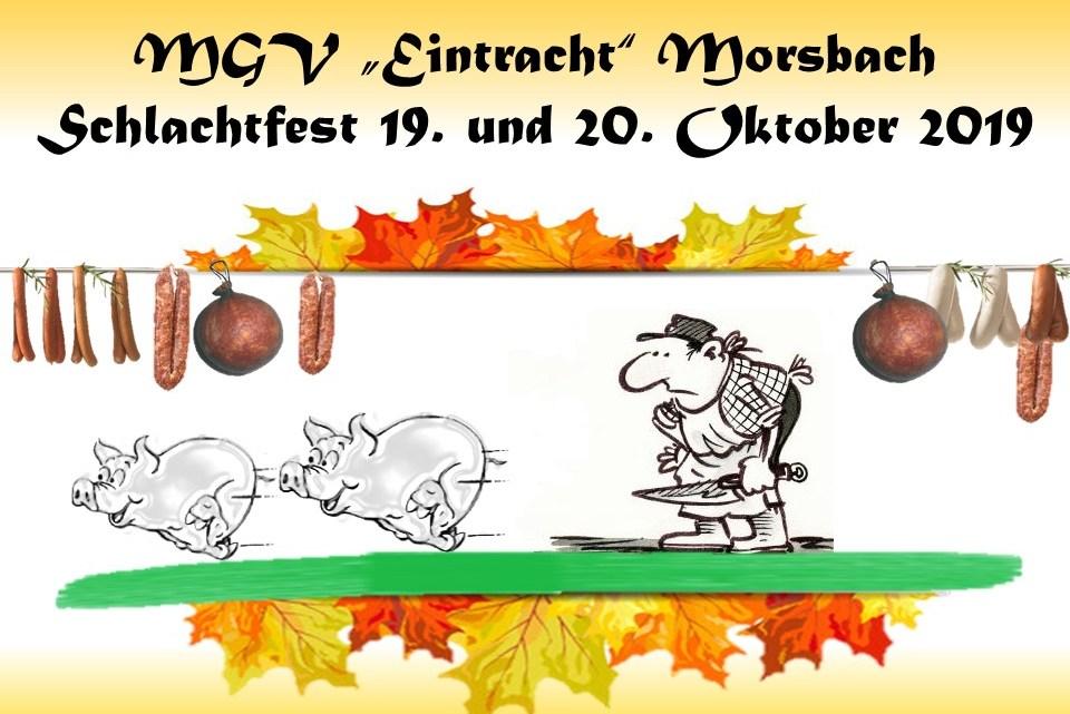 """O'zapft is!  Der MGV """"Eintracht"""" Morsbach feiert sein 25. Schlachtfest"""
