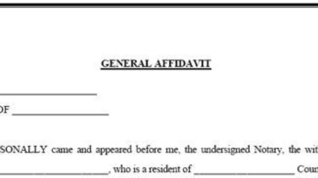Affidavit: Representing the Legal Sworn Statement of Fact