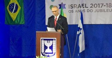 Brasileiros celebram criação do Estado de Israel na embaixada do país
