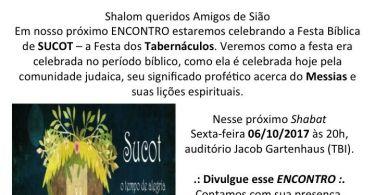 Encontro Amigos de Sião - 06/10/2017