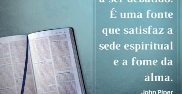A Bíblia não é um livro-texto a ser debatido.