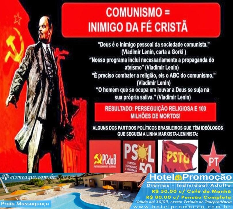 Comunismo = Inimigo da fé cristã