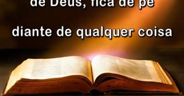 Quem fica de joelhos diante de Deus, fica de pé diante de qualquer coisa!