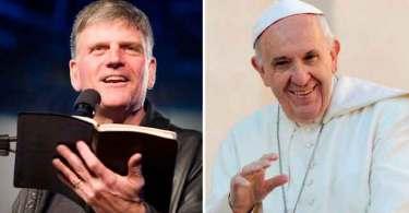 """Franklin Graham elogia o Papa Francisco: o aborto é a versão de """"luvas brancas"""" dos crimes nazistas"""