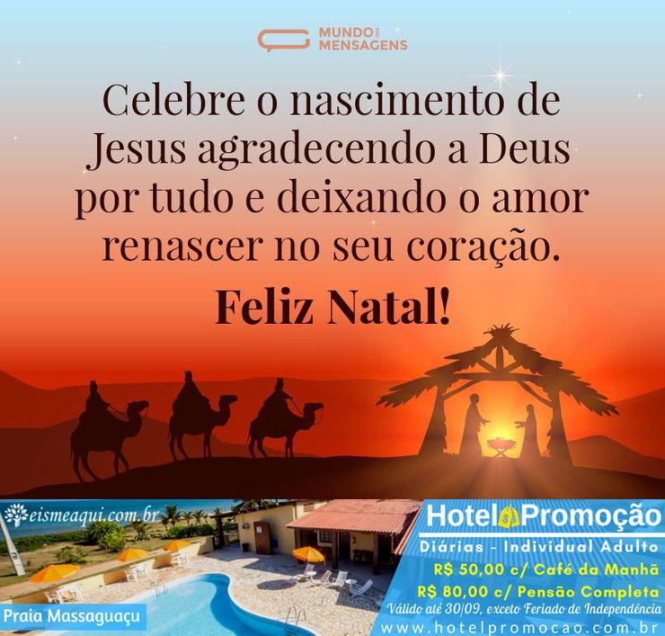 Celebre o nascimento de Jesus agradecendo a Deus por tudo e