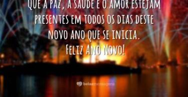 Que a paz, saúde e amor estejam presentes em todos os dias deste novo ano que se inicia!