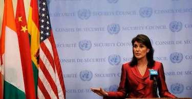 Principal defensora de Israel, embaixadora dos EUA na ONU deixará cargo