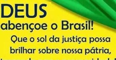 Que Deus abençoe o Brasil!