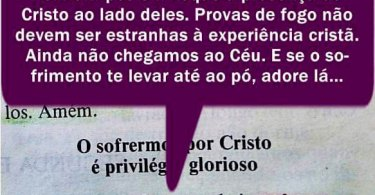 O Sofrimento Por Cristo É Privilégio Glorioso