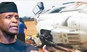 """Só Deus pode receber a glória"", diz vice da Nigéria após sobreviver a queda de helicóptero"