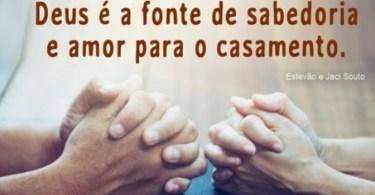 Deus é a fonte de Sabedoria e Amor do Casamento