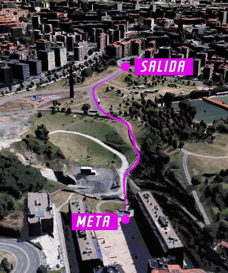 Recorrido diseñado entre el parque Etxebarria y la plaza del Gas. Foto:www.bilbaocitydownhill.com