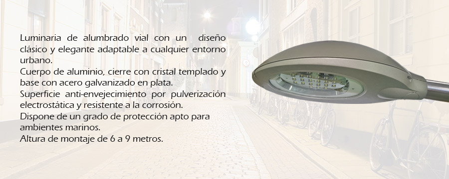 Luminaria vial garbi