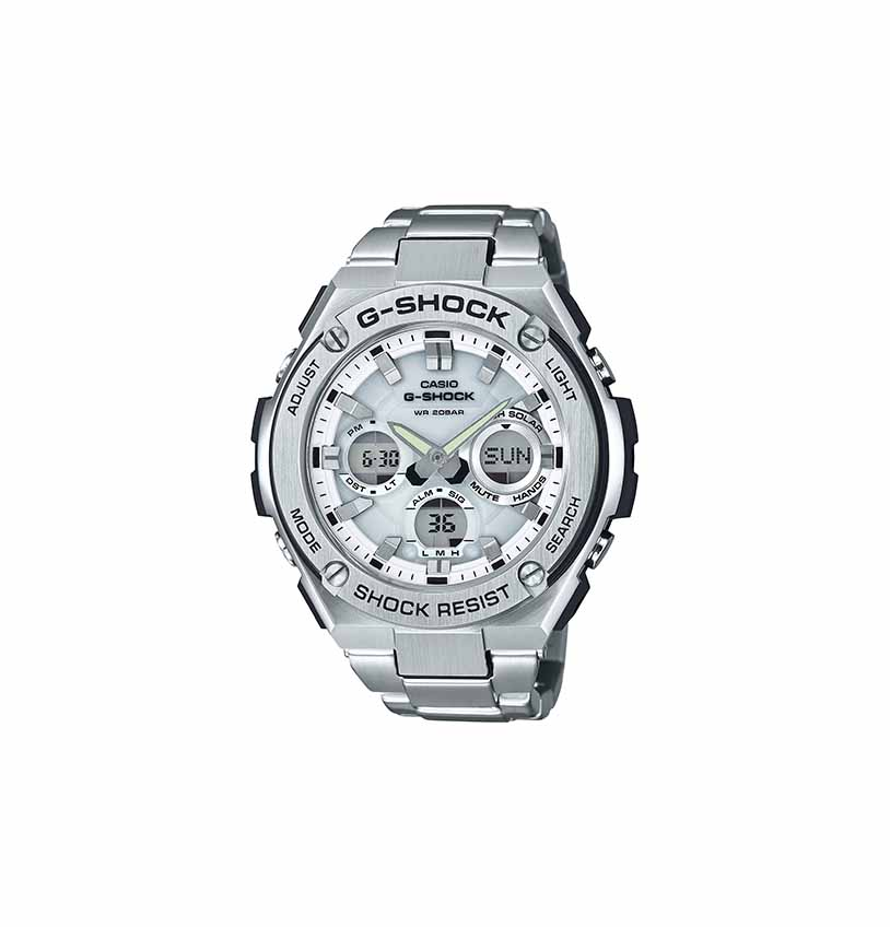 4174da3d5219 ... Shock GST-S110D-7ADR Timepieces G Steel Series Stainless Steel Band  Solar Powered Watch. 🔍. Analog Watches ...