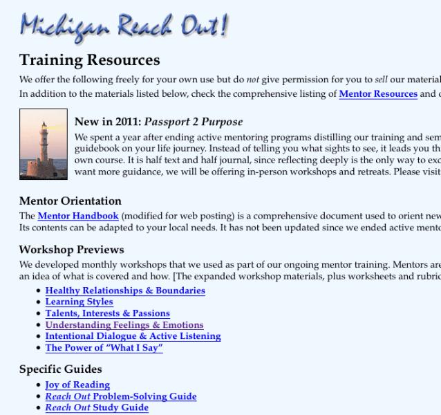 EQ Tools: Michigan Reach Out!
