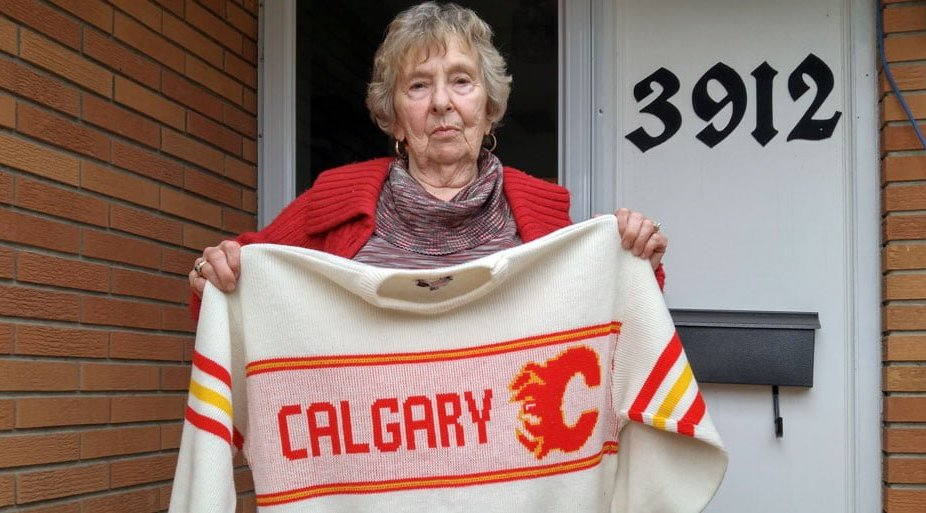 Meet the tiny Calgary Flames fan, big enough to cheer for the Edmonton Oilers