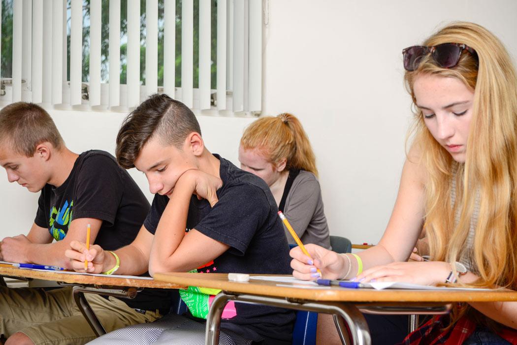 Estudiantes de eiTravels en el campamento de inglés en Boca Ratón