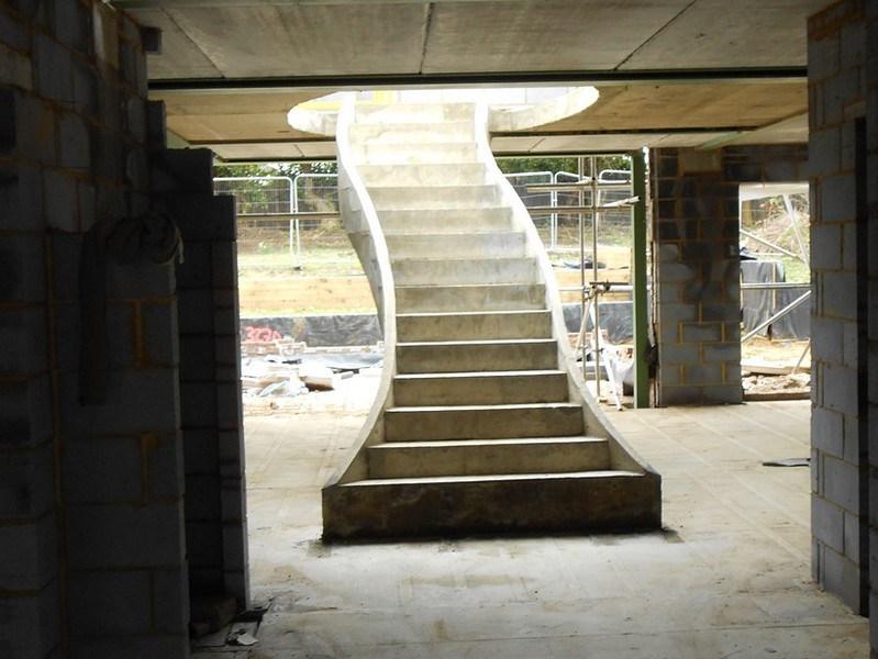 Concrete Stairs Concrete Steps Ej Brennan | Concrete Stair Formwork Design | Round | Master | Broken | Slab | Small Space