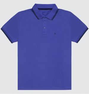 Polo Básica Masculina Azul-royal