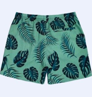Short Sublimado Estampa Folhagens