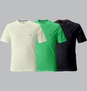 Kit Camiseta Colours Logo Bordado