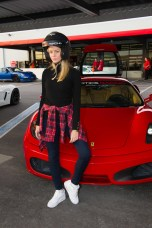 Avigail Alfatov, Miss Israel 2015, gets ready for a lab around the track with a professional driver at Exotics Racing on Wednesday December 9th. The 2015 Miss Universe contestants are touring, filming, rehearsing and preparing to compete for the DIC Crown in Las Vegas. Tune in to the FOX telecast at 7:00 PM ET live/PT tape-delayed on Sunday, Dec. 20, from Planet Hollywood Resort & Casino in Las Vegas to see who will become Miss Universe 2015. HO/The Miss Universe Organization