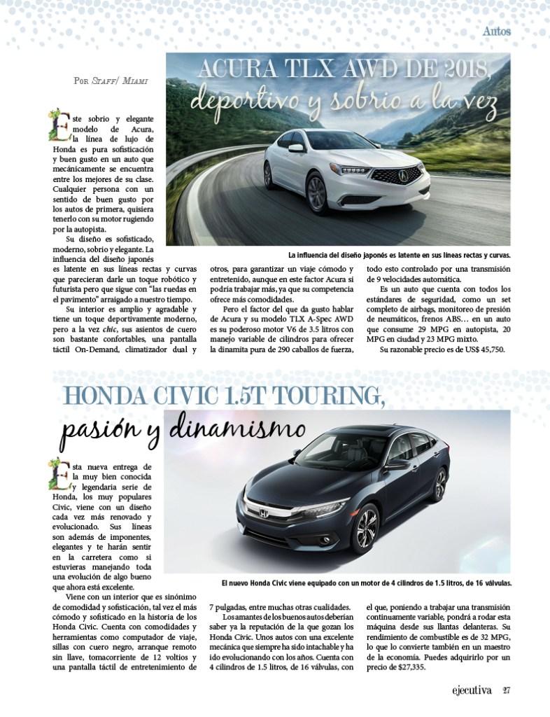 Acura Tlx Awd De 2018 Deportivo Y Sobrio A La Vez Ejecutiva Magazine