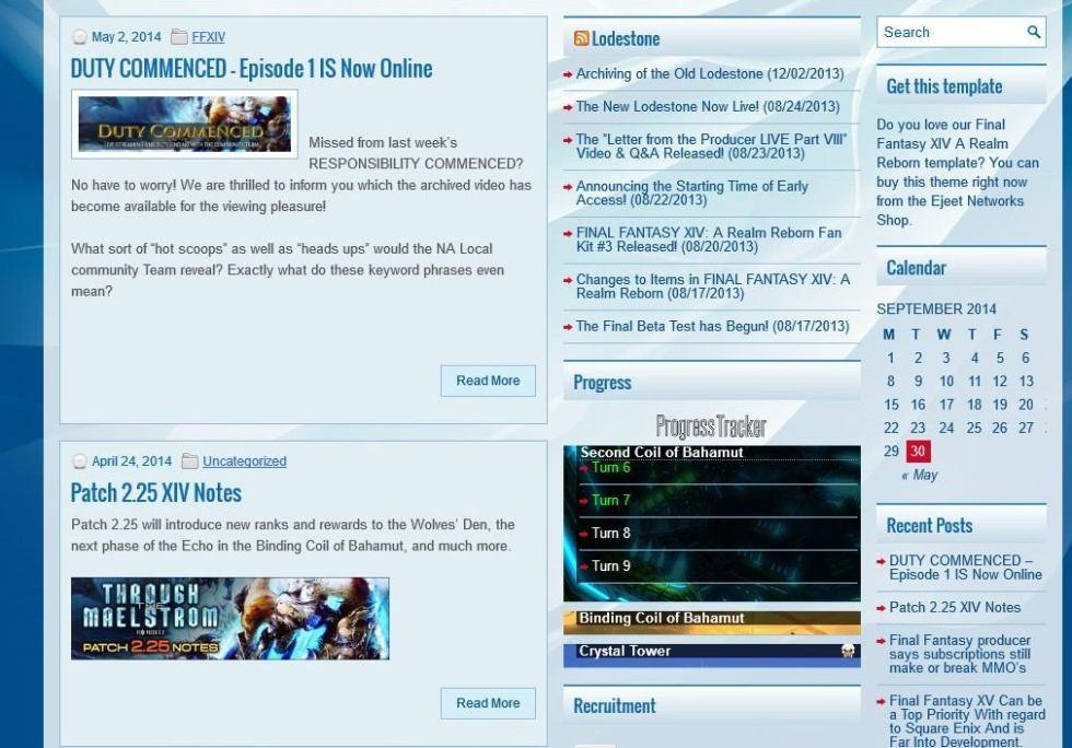Screenshot of template1