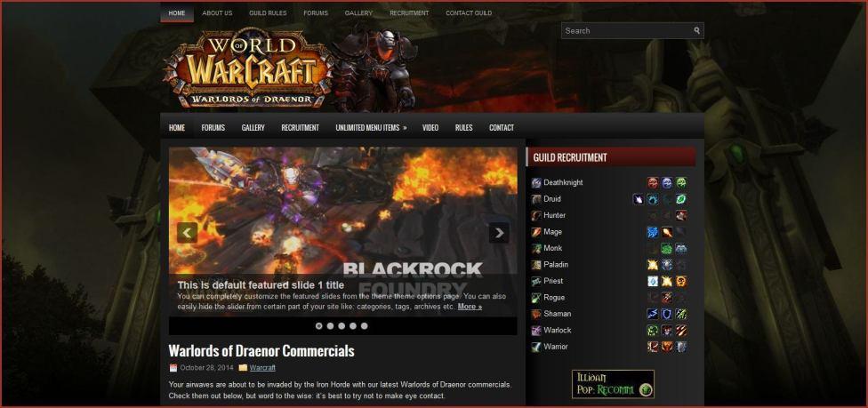 Iron Invasion Warcraft Template