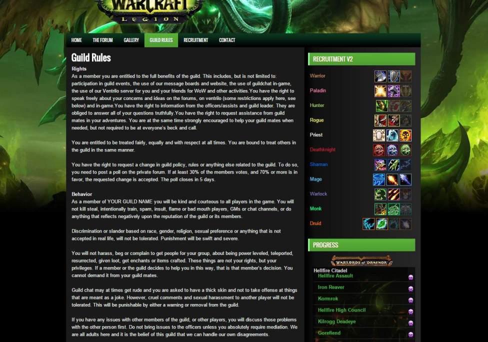 Legion-Theme-Guild-Page