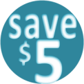 Save Five Dollars