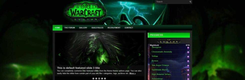 Legion X2 WordPress theme for Warcraft
